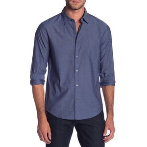 John Varvatos Mayfield Marine Blue Slim Fit Shirt